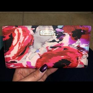 Kate Spade Saffiano Leather Floral Wallet